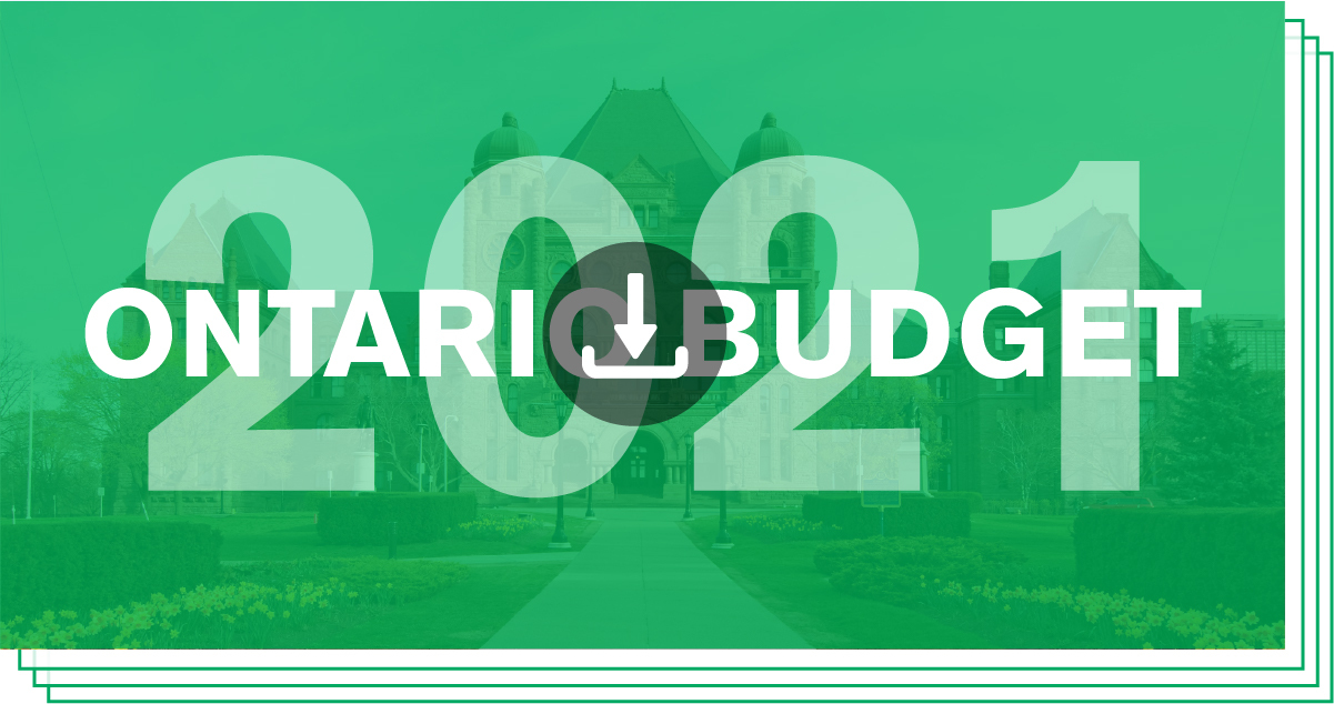 Download/View Ontario Budget 2021